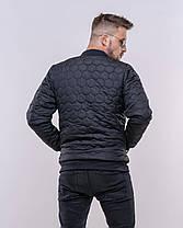 Стильная мужская куртка-бомбер, фото 3