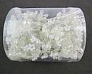 Свадебные шпильки для волос с жемчугом и кристаллами 12 шт/уп., фото 2