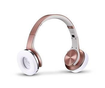 Беспроводные Bluetooth наушники Innotak с функцией портативной колонки Розовое Золото
