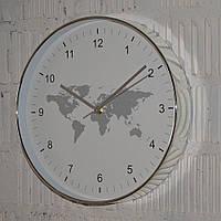 """Настінний годинник  """"World Map"""" (30 см), фото 1"""