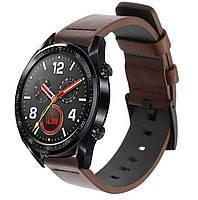 Кожаный ремешок Primo Classic для часов Huawei Watch GT 2 / GT Active 46mm - Coffee, фото 1