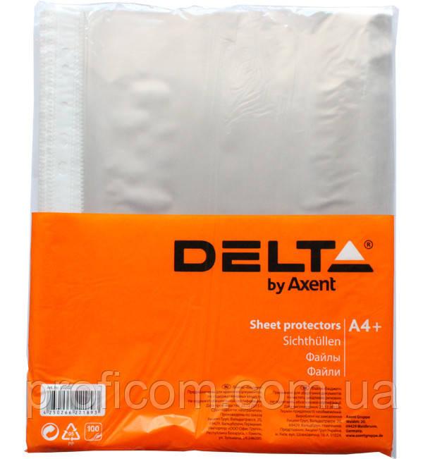 """Файл для документів А4+ """"Економ"""",""""Delta by Axent""""  (глянц.) 100шт."""