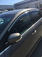 Дефлекторы окон Cobra для Kia Sportage IV QL 2015- Хром. Молдинг