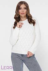 Стильний жіночий светр великої в'язки, фото 3