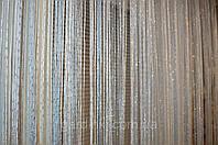 Шторы нити Радуга Дождь1+7 (белый+стальной)