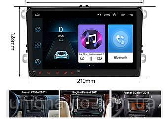 Автомагнітола для Volkswagen Seat Skoda Octavia Golf 5 6 touran passat B6 Polo Tiguan Android 8.1 2din