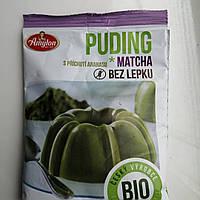 Пудинг безглютеновый с  матча и  вкусом ананаса без сахара,40 грамм