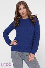 Уютный зимний женский свитер универсального размера, фото 2
