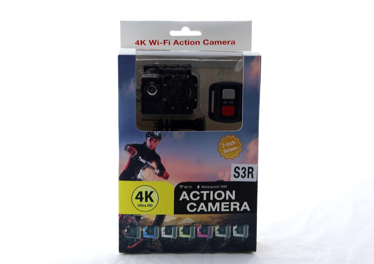 Экшн камера DVR SPORT-S3 Wi Fi waterprof 4K | Камера с пультом | Водонепроницаемая