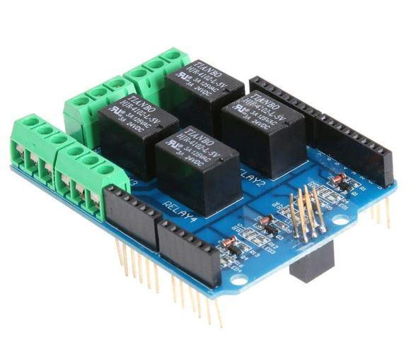 4х канальный релейный модуль 5V Arduino