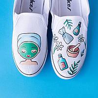 Медицинская обувь с дизайнерским принтом ручной работы