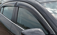 Дефлекторы окон Cobra для Toyota Land Cruiser Prado 150 5d 2014- Хром. Молдинг