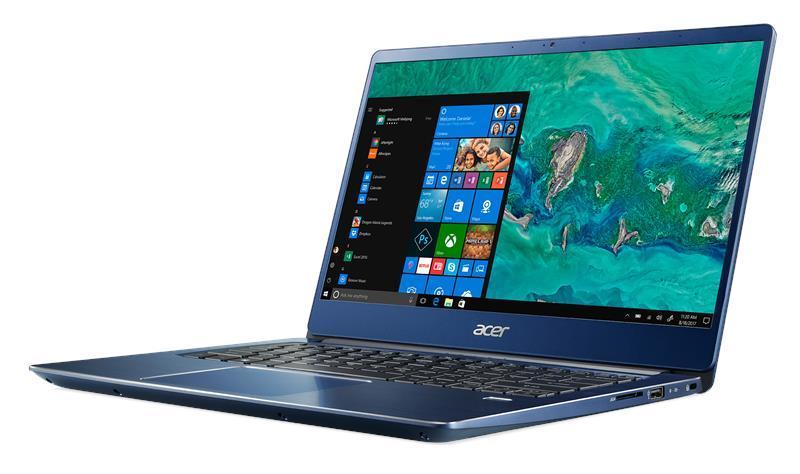 Ноутбук Acer Swift 3 SF314-56 14FHD IPS/Intel i3-8145U/8/1000 + 128F/int/Lin/Blue