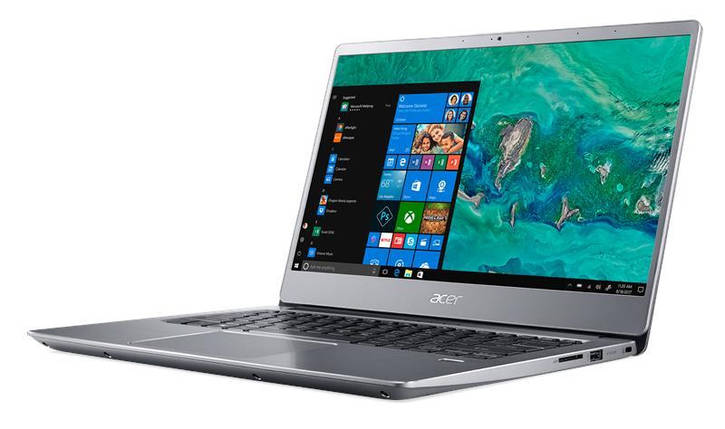 Ноутбук Acer Swift 3 SF314-56 14FHD IPS/Intel i3-8145U/8/1000 + 128F/int/Lin/Silver, фото 2