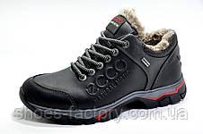 Зимние мужские ботинки в стиле Ecco Low, на меху, фото 2