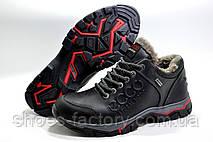 Зимние мужские ботинки в стиле Ecco Low, на меху, фото 3