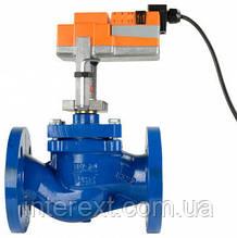 Клапан регулирующий седельный с электроприводом BELIMO для пара DN50