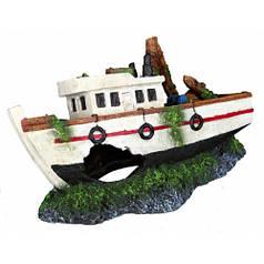 Грот для рибок Trixie Затонула човен 15 см