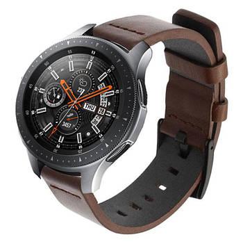 Кожаный ремешок Primo Classic для часов Samsung Galaxy Watch 46 mm SM-R800 - Coffee