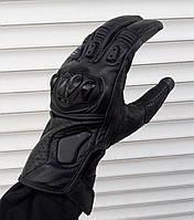 Мото перчатки Moto sparta черные кожаные XL, фото 1