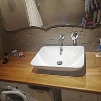 Столешница деревянная для ванной комнаты Лиственница