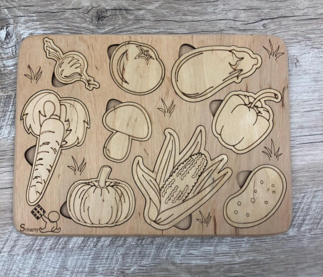 """3D пазл-розмальовка """"Овочі"""" ЕКО"""