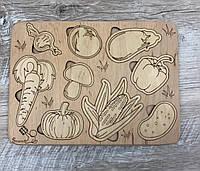 """3D пазл-розмальовка """"Овочі"""" ЕКО, фото 1"""