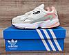 Жіночі кросівки Adidas Falcon W (WHITE TINT / RAW WHITE / TRACE PINK) EE4149, фото 8