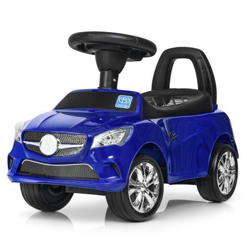 Каталка-толокар bambi 3147 c резиновыми колесами синий USB