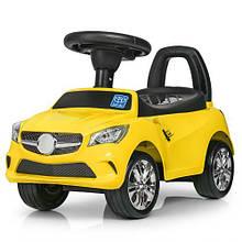 Каталка-толокар bambi 3147 c резиновыми колесами желтый