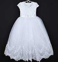 """Платье нарядное детское """"Ева"""". 9-10 лет. Белое. Оптом и в розницу, фото 1"""