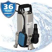 Насос погружной дренажный для грязной воды 8,4 м, 12,9 м3/ч, нержавейка, Латвия VITALS AQUA DPS 713s