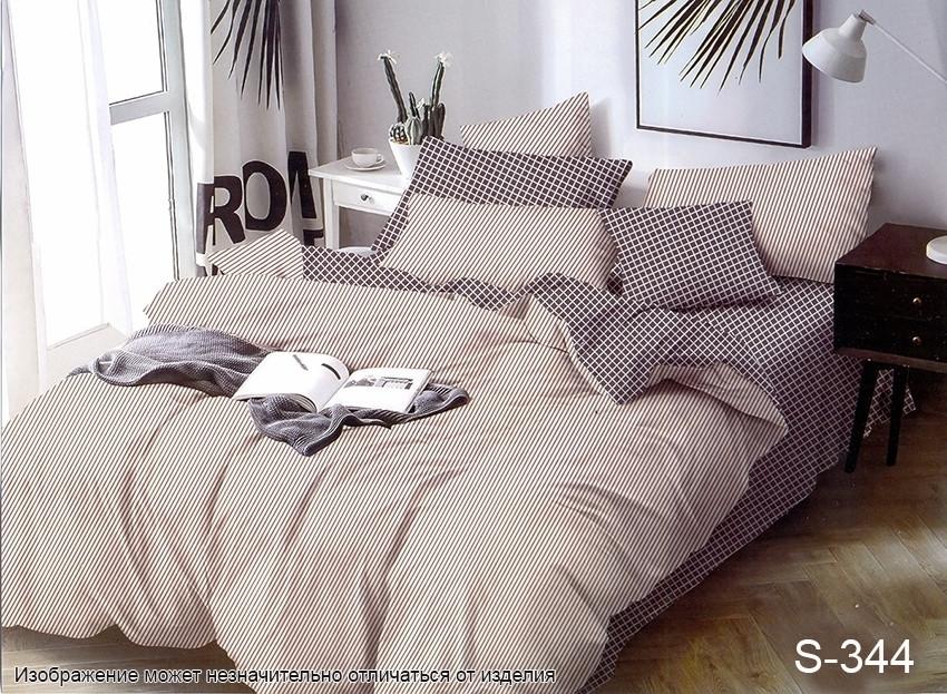 Евро комплект постельного белья сатин S-344