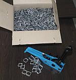 Пряжка дротяна оцинкована 16 мм для поліпропіленової стрепплінг стрічки, фото 4