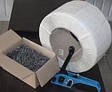 Пряжка дротяна оцинкована 16 мм для поліпропіленової стрепплінг стрічки, фото 6