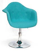 Кресло модерн  Leon Soft CH- Base  Шерсть,  бирюза W-18