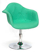 Кресло модерн   Leon Soft CH- Base  Шерсть,  зеленый  W-17
