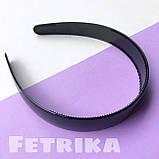 Обруч для волос пластмассовый ЧЕРНЫЙ, широкий, глянцевый, 25 мм, фото 3