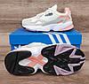 Подростковые, детские кроссовки Adidas Falcon W (WHITE TINT / RAW WHITE / TRACE PINK) EE4149, фото 5