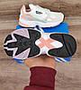 Подростковые, детские кроссовки Adidas Falcon W (WHITE TINT / RAW WHITE / TRACE PINK) EE4149, фото 8