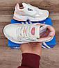 Подростковые, детские кроссовки Adidas Falcon W (WHITE TINT / RAW WHITE / TRACE PINK) EE4149, фото 9