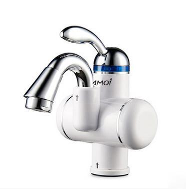 Электрический водонагреватель Solone EC-210 однорычажный с коротким изливом цвет белый,смеситель Солоне