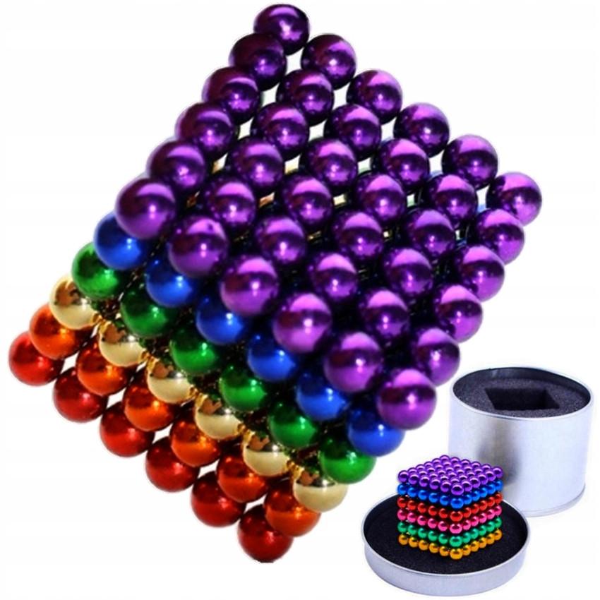 Неокуб Антистресс в коробке магнитные шарики Neo Cube цветной серый