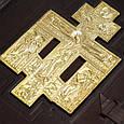 Библия большая в кожаном переплете украшена художественным тиснением и литьем на церковно-славянском языке, фото 6