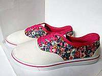 Кеды, мокасины кроссовки, текстильные, летняя обувь, белые мокасины