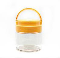 Банка стеклянная Everglass 330 мл.для хранения  с оранжевой пластиковой  крышкой и ручкой
