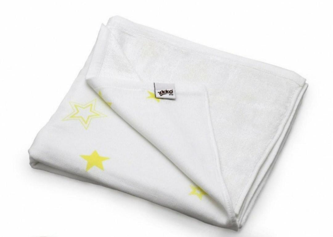 Плед детский  двусторонний   XKKO  бамбук-хлопок  130*70 , лимонные звезды