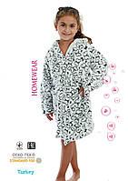 Флисовый халат для девочки пр-во Турция
