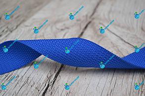 Стрічка ремінна/40мм/синя/арт. 4352