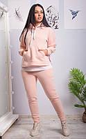 Женский теплый спортивный костюм батник и штаны трехнитка на флисе размер: 46, 48, 50